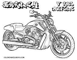 Free Harley Davidson Motocycle Coloring Pages | Harley Davidson V ...