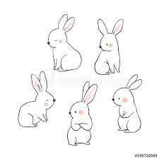 Vector Illustration Character Design Collection Outline Of Cute