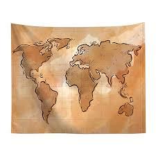 Amazon Com Creamdog Vintage World Map Wall