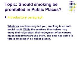 for and against essay 5 topic should smoking be prohibited in public places