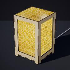 plywood lighting. Laser Cut Plywood Table Lamp - Large P02 ~ Batik Lime Circles Lighting