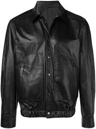 neil barrett shirt leather jacket