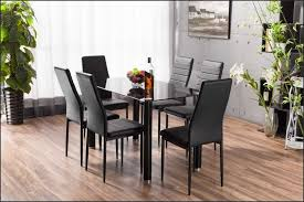 Mesmerizing Clear Rectangle Modern Glass Dining Table With 6 Chairs