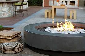 modern patio fire pit. Modern Outdoor Firepit Inspiration | Honeysuckle Life Patio Fire Pit W