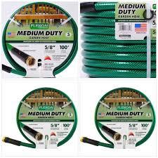 flexon garden hose. Flexon 100\u0027 Medium-Duty Garden Hose, Green Hose