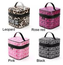 victoria s secret pink train cosmetic makeup bag travel case u s seller