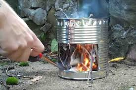camping wood stove diy down version diy stainless steel wood gas stove yourhyoucom made from car