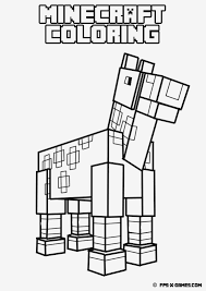 Easy Minecraft Coloring Pages Printable Coloring Page For Kids