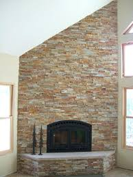 brick stone fireplace stacked stone veneer over brick fireplace how to cover panels exterior stacked stone