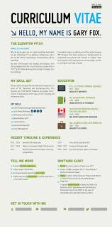 Infographic Cv For Gary Fox Graphic Design And Illustration