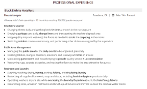 Housekeeping Resume The 2019 Guide With 20 Examples