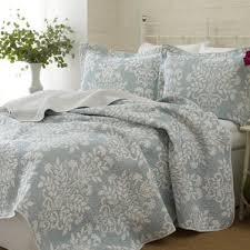 King Quilts & Coverlets Sets | Joss & Main & Rowland 100% Cotton Coverlet Set by Laura Ashley Home Adamdwight.com