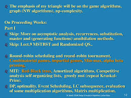 Game Trees In Design And Analysis Of Algorithms Ppt The Design Analysis Of The Algorithms Powerpoint