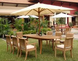 luxury outdoor dining table with umbrella 17 grade a teak 94 wood oval 1