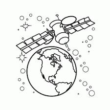 Het Heelal Kleurplaten Ruimteschepen Planeten En Astronauten