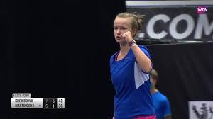 WTA - Ostrava Day 1   B. Krejcikova vs. T. Martincova   Match Highlights