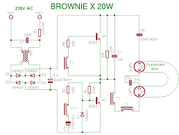 compact fluorescent lamp schema browniex 20w