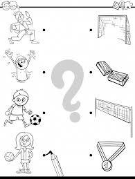 Abbina Libro A Colori Per Attività Sportive E Per Bambini