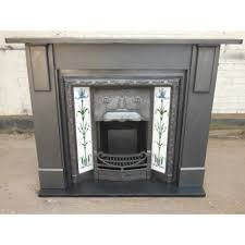 SS073   Original Victorian Edwardian Slate Fireplace Surround *** THIS  INSERT NOW SOLD ***