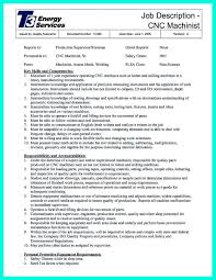 Machinist Resume Sample Machinist Resume General Business Cover Letter Cnc Samples 4