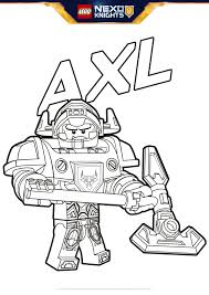 Axl Coloring Pages Lego Nexo Knights Legocom Us