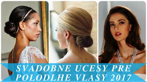 Svadobne Ucesy Pre Polodlhe Vlasy 2017 By Moderné účesy