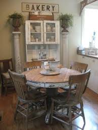 round farmhouse kitchen table. shabby farmhouse...dining...distressed \u0026 chipped round oak table. farmhouse kitchen table