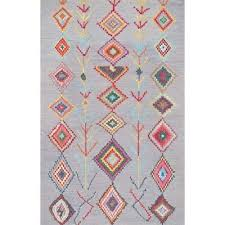 nuloom 5 x 8 hand tufted belini area rug in gray transitional