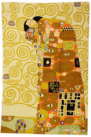 klimt kiss rugs art nouveau abstract wall hangings