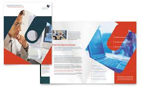 Computer Software Company Brochure Template Design