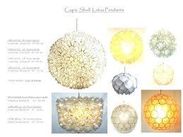 shell pendant lotus collection capiz diy light
