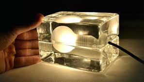 ice cube table lamp g s s g modern glass ice cube touch table lamp