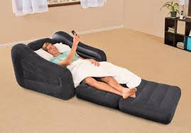 intex inflatable furniture. Intex Inflatable Air Chair With Pull Out Twin Bed Mattress Sleeper 68565E Black Furniture U