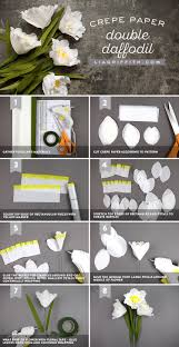 Daffodil Paper Flower Pattern How To Make Crepe Paper Double Daffodils