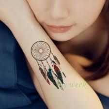 Vodotěsný Dočasné Tetování Nálepka Body Art Lapač Snů Dream Catcher