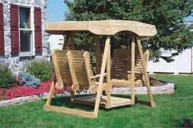 ask us a question amish pine double lawn swing glider with canopy