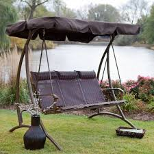 DIY:Outdoor Metal Patio Canopy Lounge Chair Hammock Seat Swing Chocolate  Brown Canopy Swing Idea