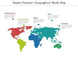 Market Potential Geographical World Map Presentation Ideas