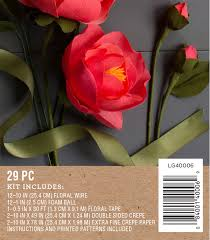 Red Paper Flower Crepe Paper Peonies Flower Kit By Lia Griffith Shop Lia Griffith