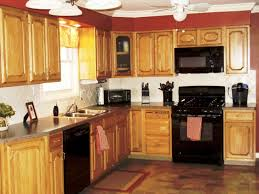 kitchen color ideas with oak cabinets and black appliances. Plain Ideas Epic Kitchen Paint Colors With Oak Cabinets And Black Appliances F45X About  Remodel Stunning Home Decorating Ideas With  Color D