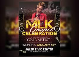 celebration flyer template. MLK Gospel Celebration Flyer Template