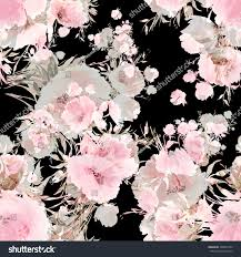 Seamless pattern watercolor flowers Q. Vintage, retro effect. Pastel  background. Beautiful wallpapers