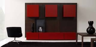 White And Red Living Room Charming Living Room Wall Cabinet Furniture With Slim Tv Wall And