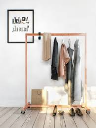 ... Wardrobe Racks, Small Rolling Clothes Rack Heavy Duty Garment Rack  Simple Square Wooden Clothes Rack