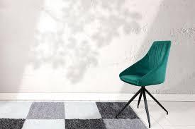 Samt Stuhl Drehstuhl Retro Modern Esszimmerstuhl Wohnzimmerstuhl Grün
