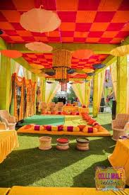 See more ideas about wedding picture walls, wedding vow art, wedding canvas. Mehndi Decoration Ideas That Are Simple Classy Wedding Decor Wedding Blog