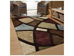 orian rugs impressions rectangular circle bloom brown area rug