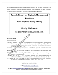 sample report on strategic management practices by instant essay writ a competitive advantages 8