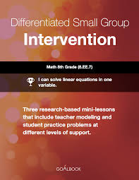 diffeiated small group intervention solving one variable linear equations