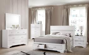 Miranda King Storage Platform Bed White DFW Furnituremart